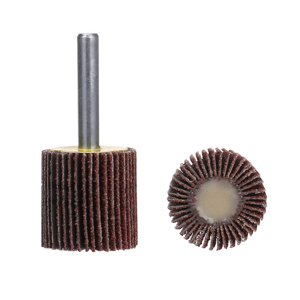 Mounted Flap Wheels 2 x 1 with 1//4 Shank 5 Pack SCOTTCHEN 80 Grits Aluminum Oxide for Remove Rust and Weld Burr Fit for Most of Drill