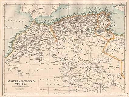 Amazon.com: NORTH AFRICA. Algeria Morocco Tunis Tunisia Maghreb ...