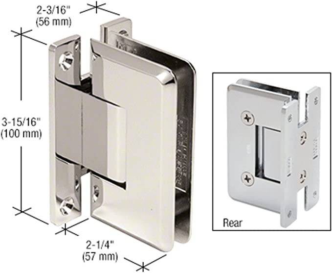 LAURENCE C0L037PN CRL Polished Nickel Cologne 037 Series Wall Mount Hinge C.R
