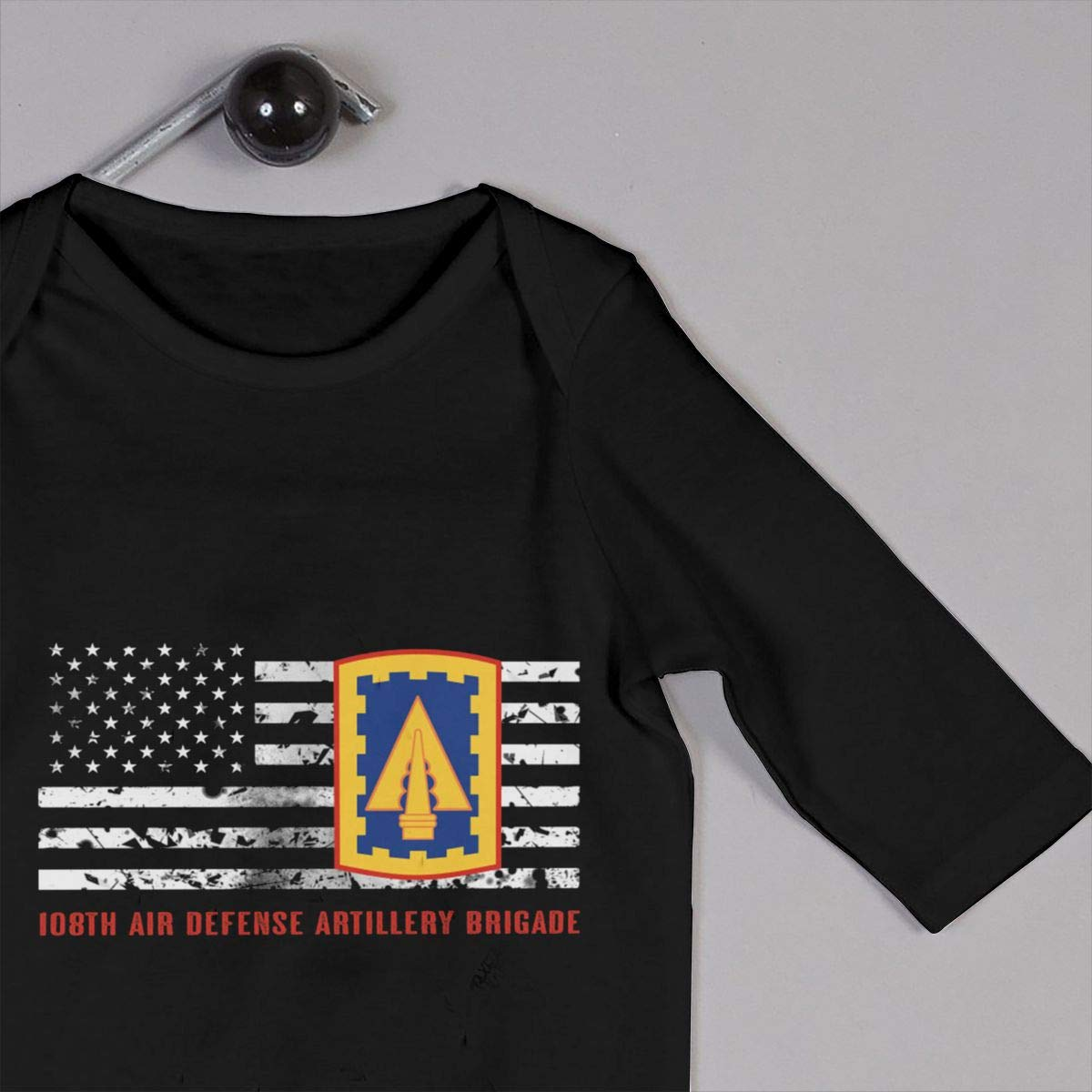Gsaa 108th Air Defense Artillery Brigade Baby Long Sleeve Bodysuit Cotton Romper
