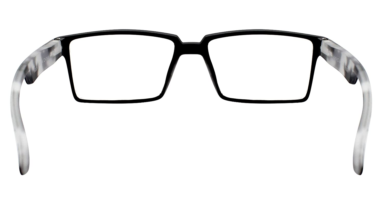 TBOC Occhiali da Vista Lettura Presbiopia 1.50 Diottrie Montatura Nera Aste Mimetici Fashion Leggeri Quadrati da Vicino per Computer Donna Uomo Unisex Graduati