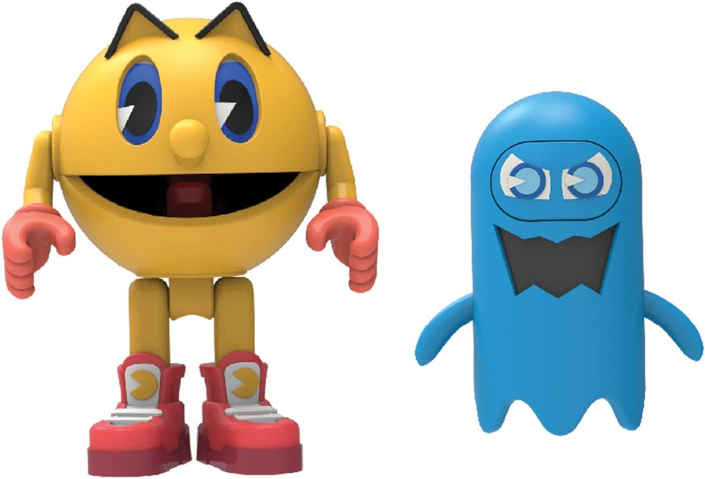 Knex Pac-Man 2 Figures Pacman and Cylindria with 2 Ghosts Series 1 Knex