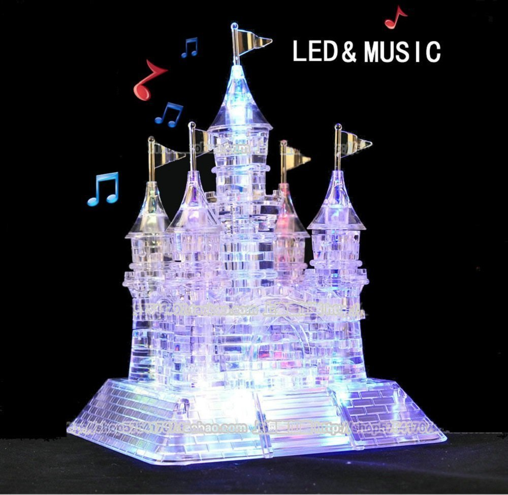 StillCool 3D Musical Puzzle Assembly Puzzle 3D Jigsaw with Beautiful Light-Up (Crystal Castle) ST-001002365