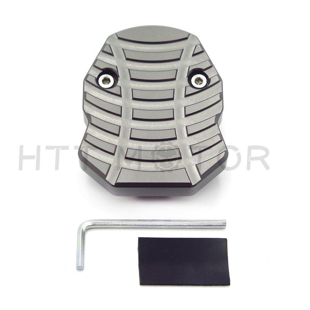HTTMT YAM-253MAX1518 Black CNC Sidestand Foot Plate Kickstand Pad Compatible with Yamaha Nmax155 N-Max 155