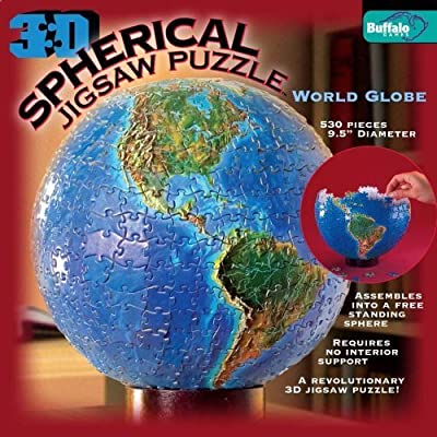 3d Spherical Puzzle World Globe By Buffalo Games