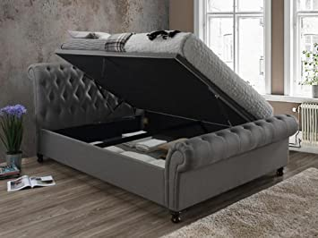 Birlea Furniture Castello Side Ottoman Bed Fabric Super King