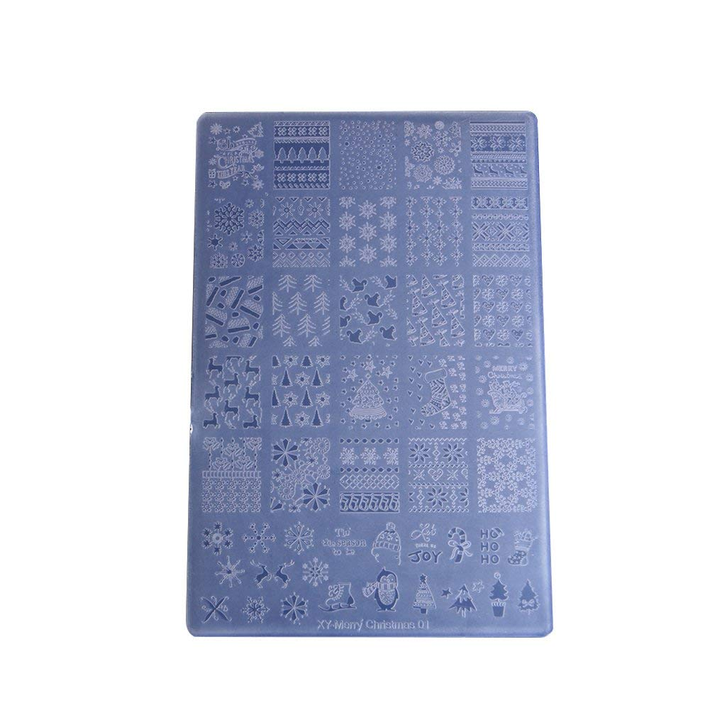 Wintefei Christmas Style Nail Art Print Stamp Stamping Plate Template Manicure - 6 unknown