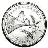 Canada 1992 SK 25 cents Saskatchewan UNC Provincial Canadian Quarter