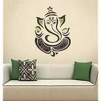 Decals Design Wall Sticker 'Modern Elegant Ganesha God For Pooja Room'