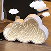 Led Night Lamp,ZYooh Marquee LED Night Light Festival Home Bedroom Decor Lights Tunnel 3D Modeling Wall Lamp for Birthday Party Wedding Atmosphere (White_Cloud)