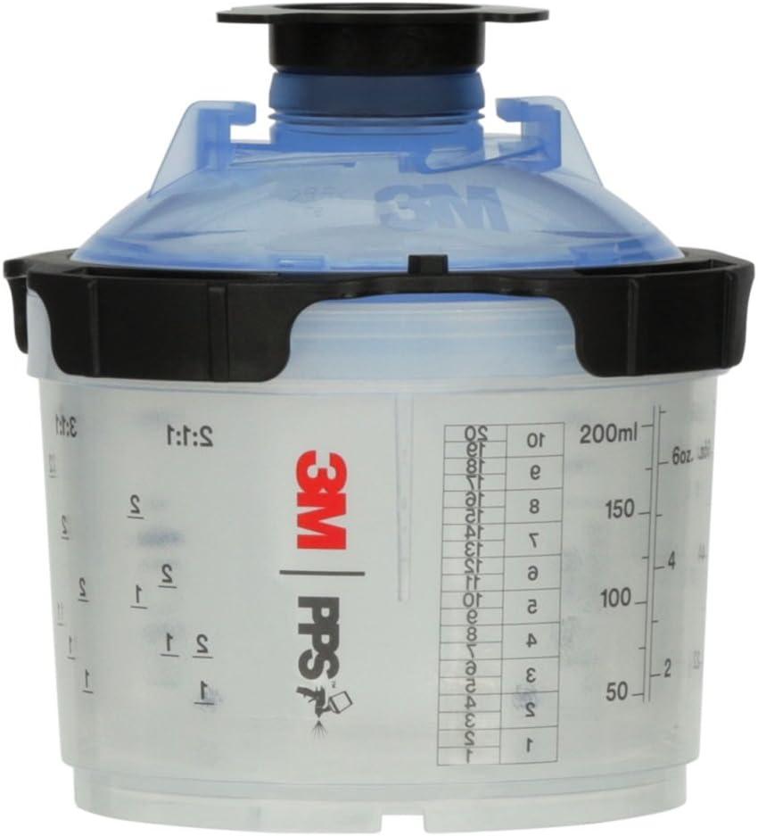 3M 26314 Spray Cup System Kit, Mini (6.8 fl oz, 200 mL), 125u Micron Filter