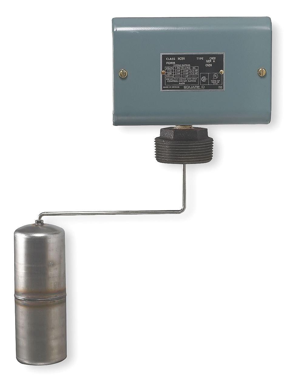 Square D - 9038CG34Z20 - Alternator Tank Liquid Level Switch, Close On Rise, Stainless Steel, 2-1/2 MNPT