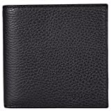 Gucci Men's Leather Embossed Logo Bifold Wallet W/Coin Pocket (Black 1067)