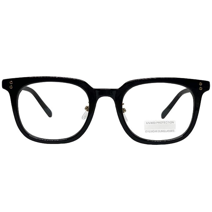 Amazon.com: Gafas de ojos retro Nerd Geek de gran tamaño con ...