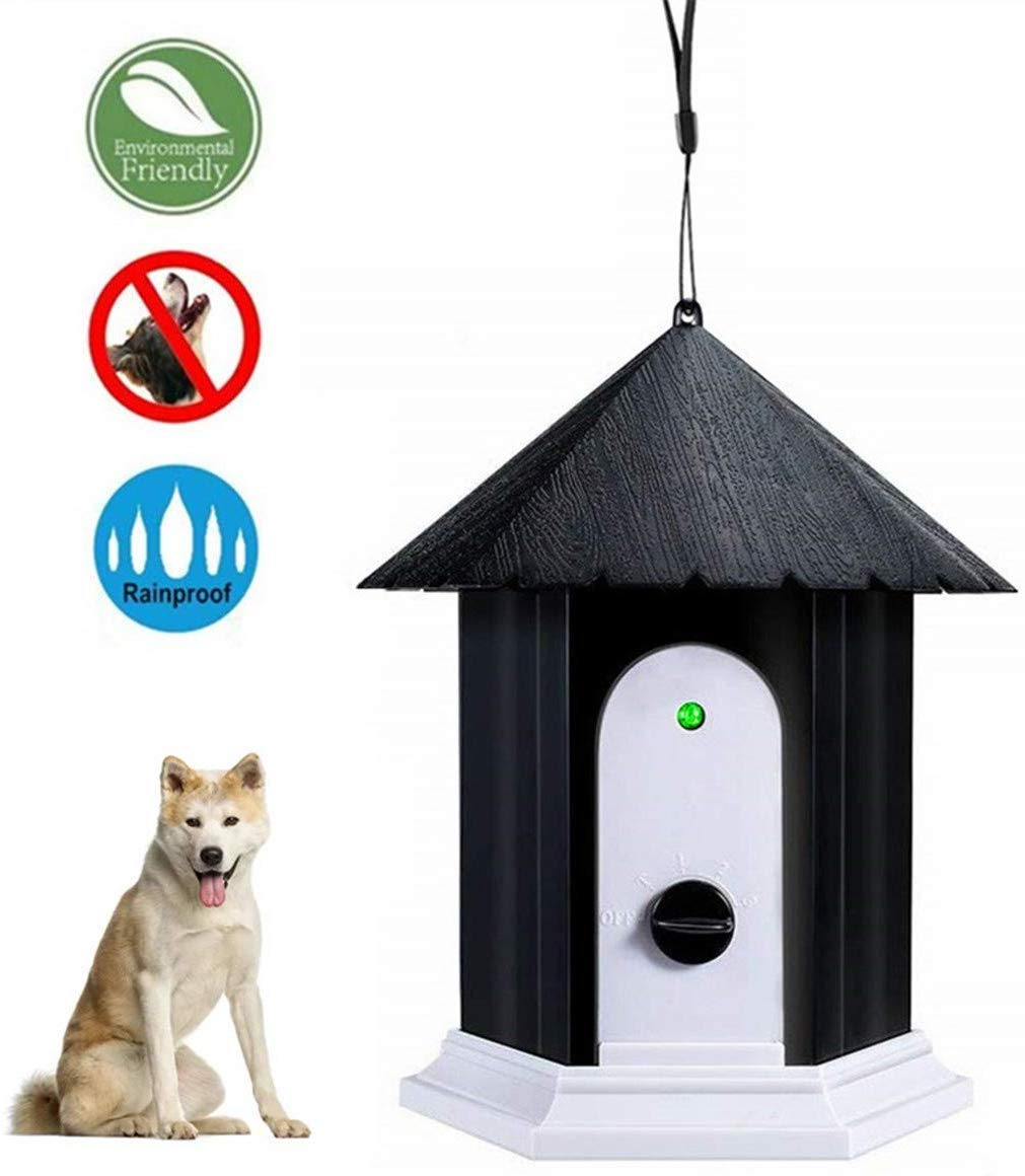 HoomDirect Anti Barking Device, Ultrasonic Sonic Bark Deterrents, Dog Training Stopping Barking Tool, Outdoor Waterproof Dog Bark Controller in Birdhouse Shape by HoomDirect