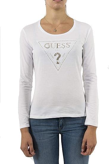 6136e79b9b3b Guess Triangle, Long Sleeve T-Shirt for Women: Amazon.co.uk: Clothing