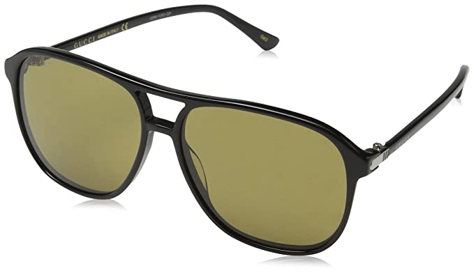 9679292184b Image Unavailable. Image not available for. Colour  Gucci Men s GG0016S 001  Sunglasses ...