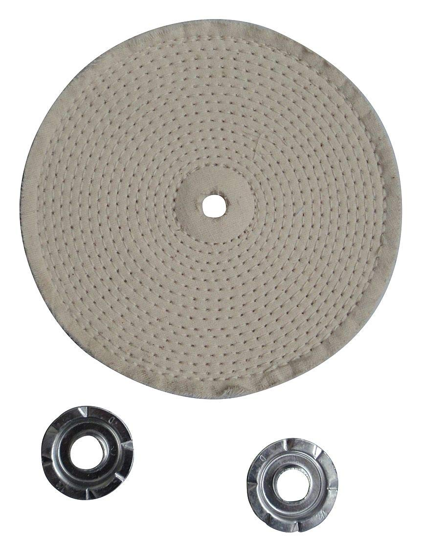 Buffing Wheel, Spiral Sewn, 6 In Dia. - 12U083 (Pack of 5)