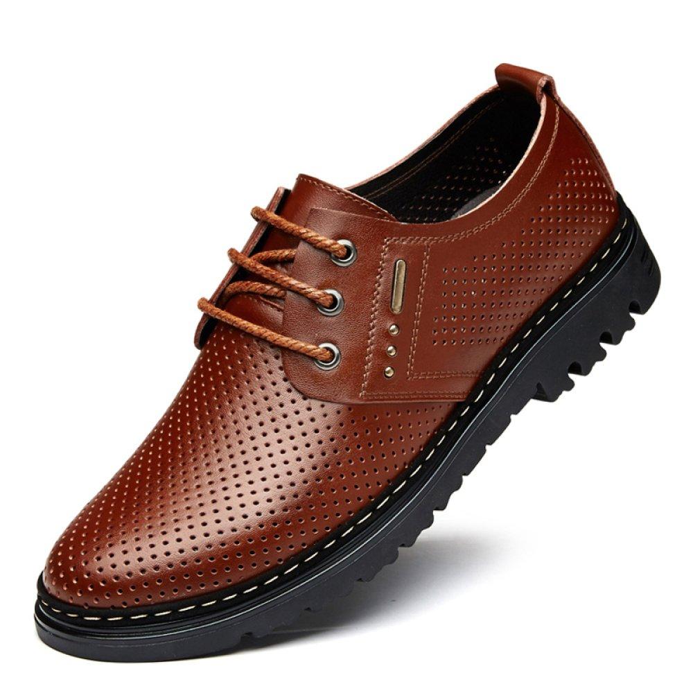 YXLONG Sandalia De Los Hombres De Verano Zapatos Transpirables De Los Hombres De Cuero Nuevos Zapatos Huecos Zapatos De Los Hombres De Los Zapatos De Los Hombres,Hollowbrown-37 37|hollowbrown