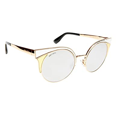 Jimmy Choo Damen Sonnenbrille Dhelia/S 9O 2M2, Schwarz (Black Gold/Brown), 48