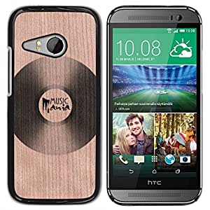 - Vinyl Music Retro Record Lp - - Funda Delgada Cubierta Case Cover de Madera FOR HTC One Mini 2 M8 Mini BullDog Case