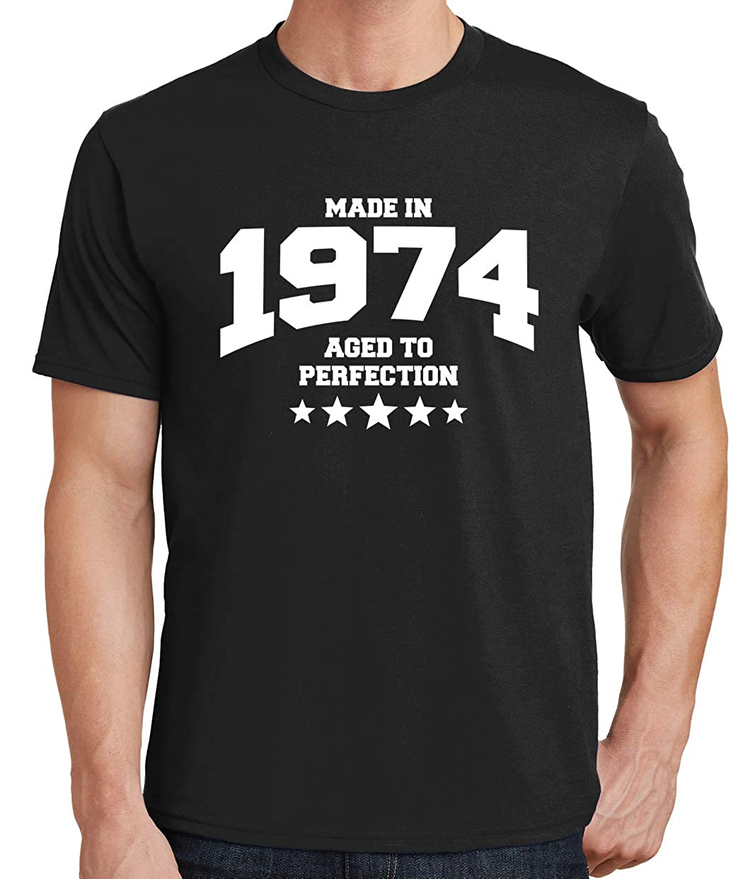 Tenacitee Mens Athletic Aged to Perfection 1974 T-Shirt