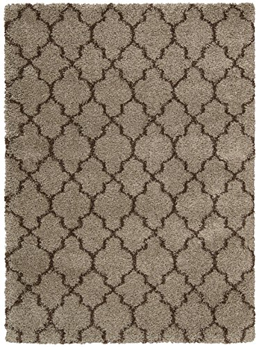 Rug Squared Bay Hill Shag Area Rug (BAHL2), 3-Feet 11-Inches by 5-Feet 11-Inches, Latte