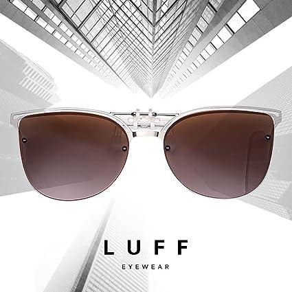 Polarisierte Flip up Vintage Cat Eye Sonnenbrille f/ür Damen fahren TERAISE Womens Clip-on Sonnenbrille f/ür verschreibungspflichtige Brillen