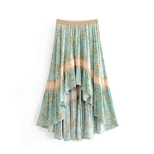 Mebeauty Faldas de Mujer Falda Bohemia de Las Mujeres con ...