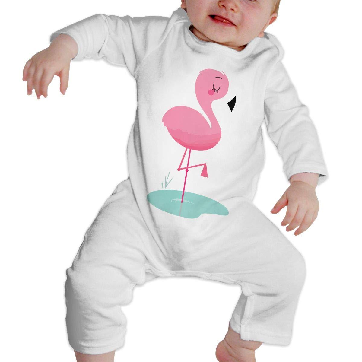 Baby Girls Coverall Bird Flamingos Kid Pajamas