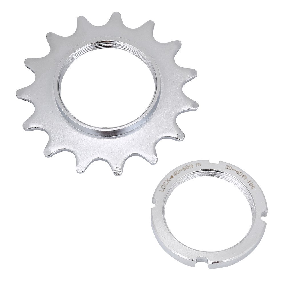 Dioche Single Speed Converter, Single Speed Freewheel 13/14/15/16 Bike Freewheel Steel Cog Fixed Gear Cogs + Lock Ring