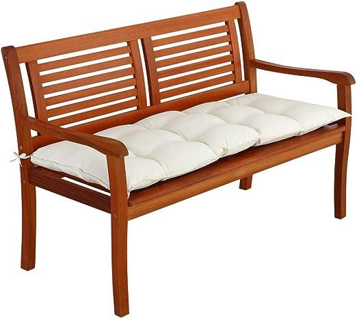 Detex Cojín para Banco Acolchado 110x45x8cm cómodo Almohadilla viscolastica Poliéster con Correas jardín Interior Exterior: Amazon.es: Jardín