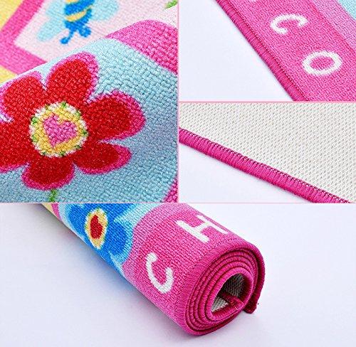 HUAHOO Pink Rug Girls Pink Kids Rug,Children's Rugs Baby