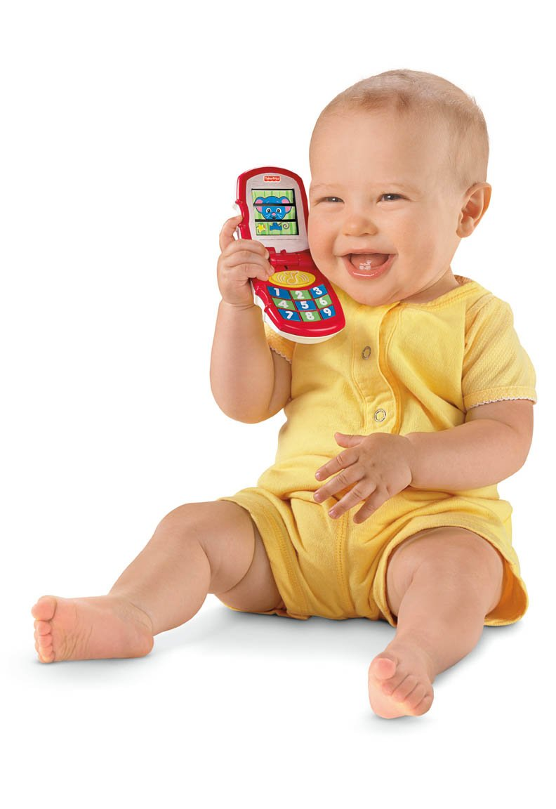 Fisher-Price Brilliant Basics Friendly Flip Phone (6 Months +)