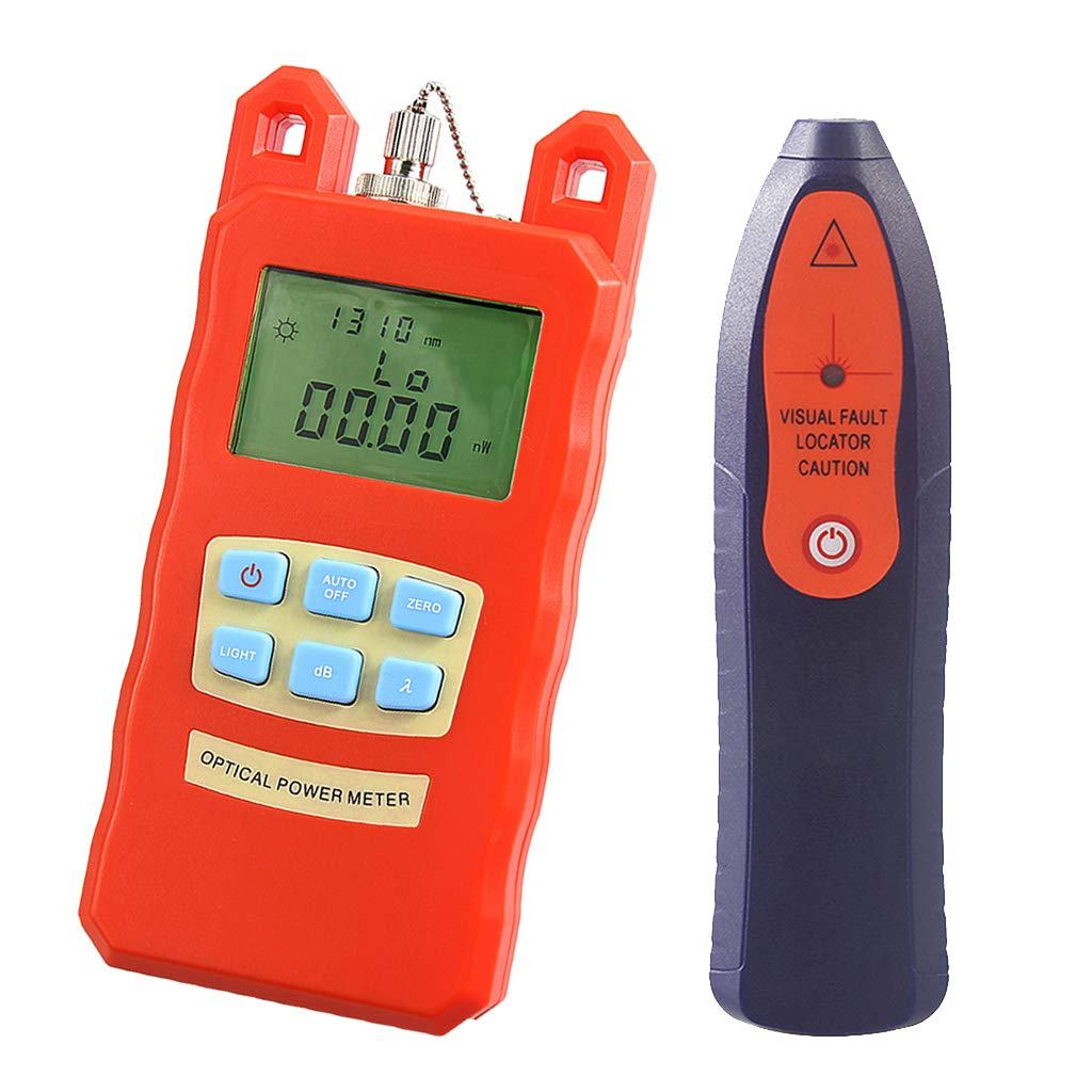 Baosity AUA-70C Portable Optical Fiber Power Meter Tester Measure -70dBm~+10dBm + 30mW 20KM Visual Fault Locator Fiber Tester Detector Meter Pen Tools