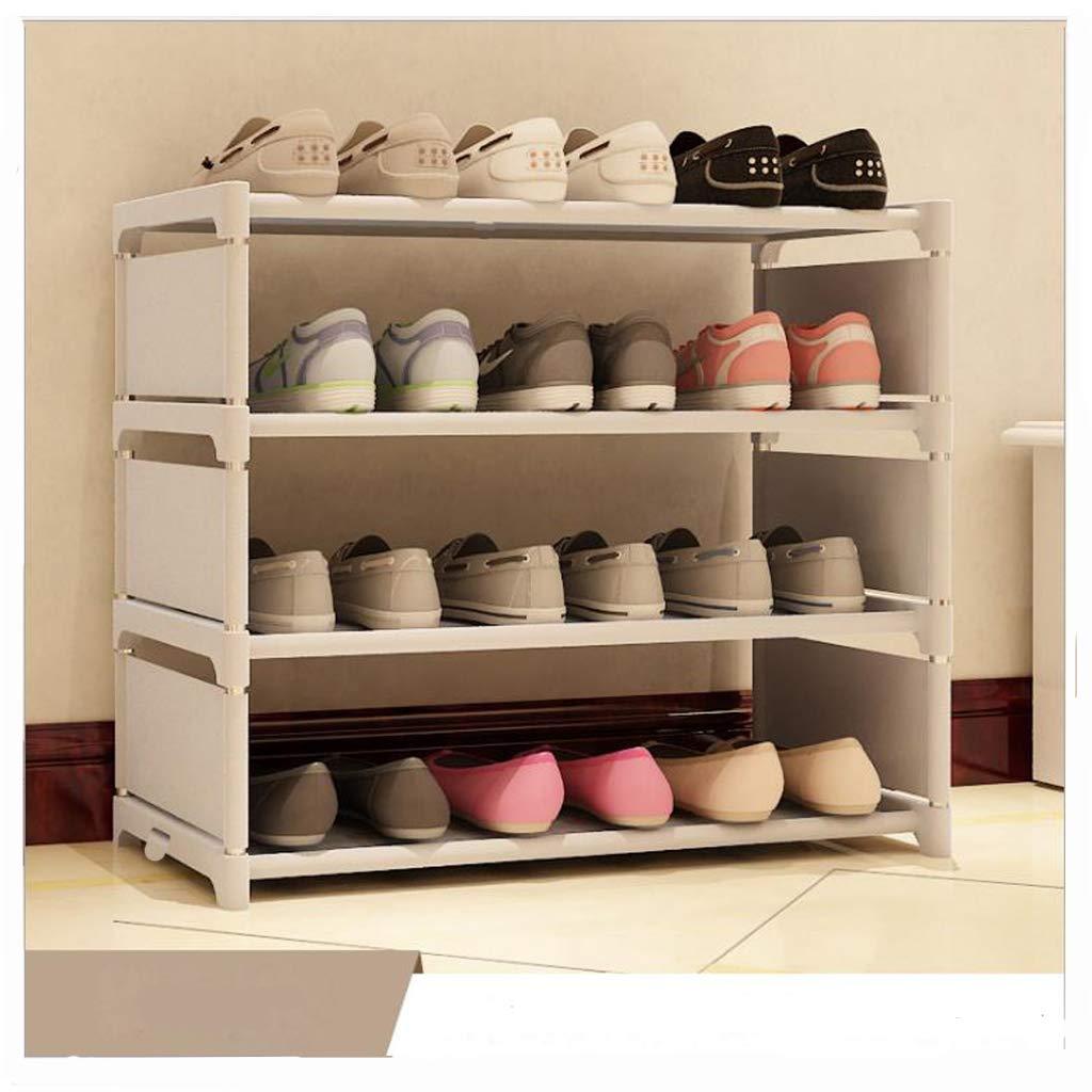 Khfun New Shoes Rack Organizer Shelf 4-Tier Shoe Tower Shelf Storage Cabinet Nonwoven Shelf (Grey) Shoes Rack - 003