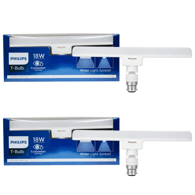 Philips T-Bulb Base B22 18-Watt LED Bulb (Pack Of 2, Cool