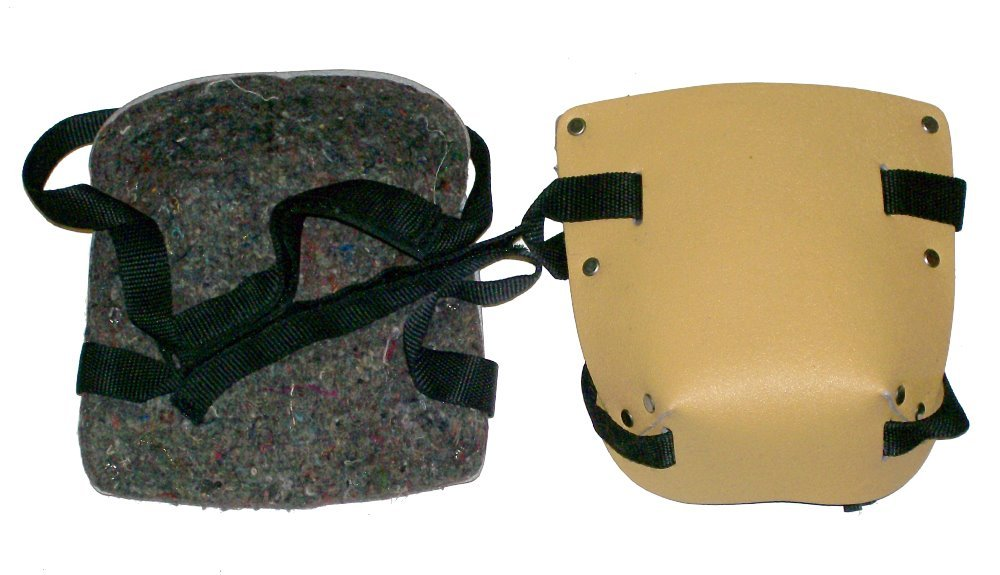 Prima Tools KP2L Leather Knee pad Set with Velcro Straps, Yellow, Set of 2 Pieces Faroh