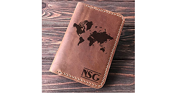 KSTEE Passport Holder Vintage World Map Cute Printing PU Leather Passport Holder Protection Cover ID Credit Cards Case Map