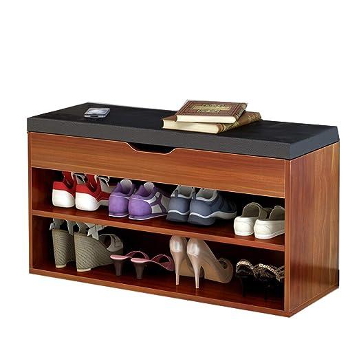 CXLO Zapato Banco Zapato Estante de Almacenamiento con cojín ...