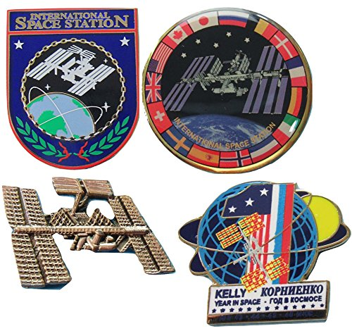 International Space Station Pin Set Commemorative Official NASA