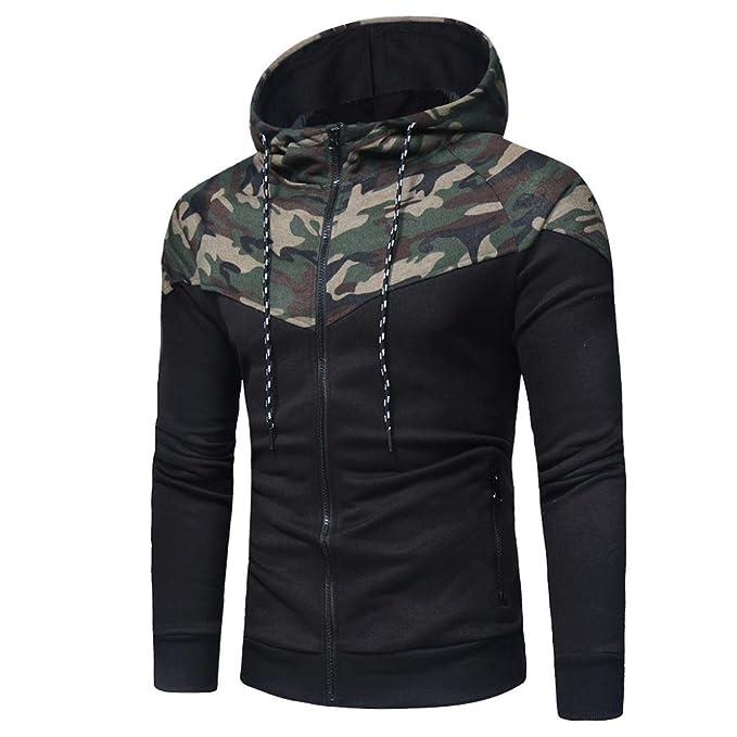 Männer Hood Pullover SHOBDW Männer Camouflage Langarm-Druck mit Kapuze  Sweatshirt Tops Jacke Mantel Outwear 5deba83de0