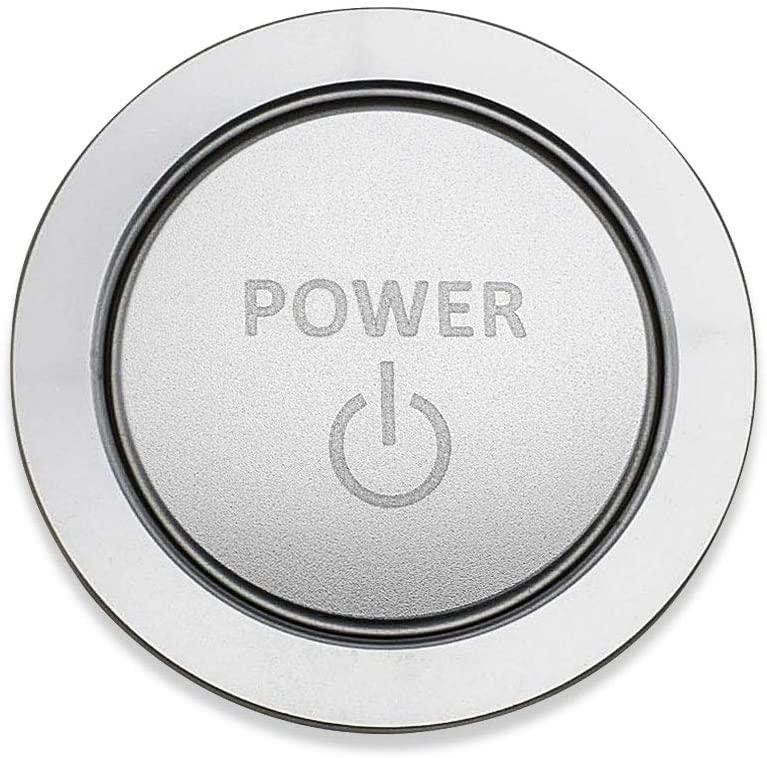 Silver Ceyes Engine Start Stop Button Push to Start Button Power Badge//Emblem Sticker Ignition Start Stop Button Trim Cover for Toyota Prius Corolla Avensis Vellifire Highlander Camry Levin