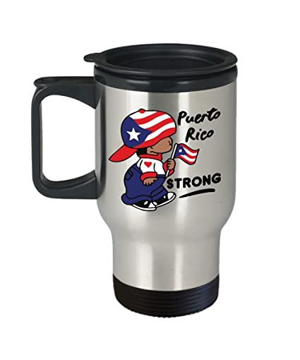Amazon.com: Puerto Rico Strong 14 oz. Stainless Steel Travel ...