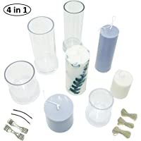 Healifty 3pcs Candle Molds Pillar Mold Cylinder Mold Sphere Mold for DIY Candle Making