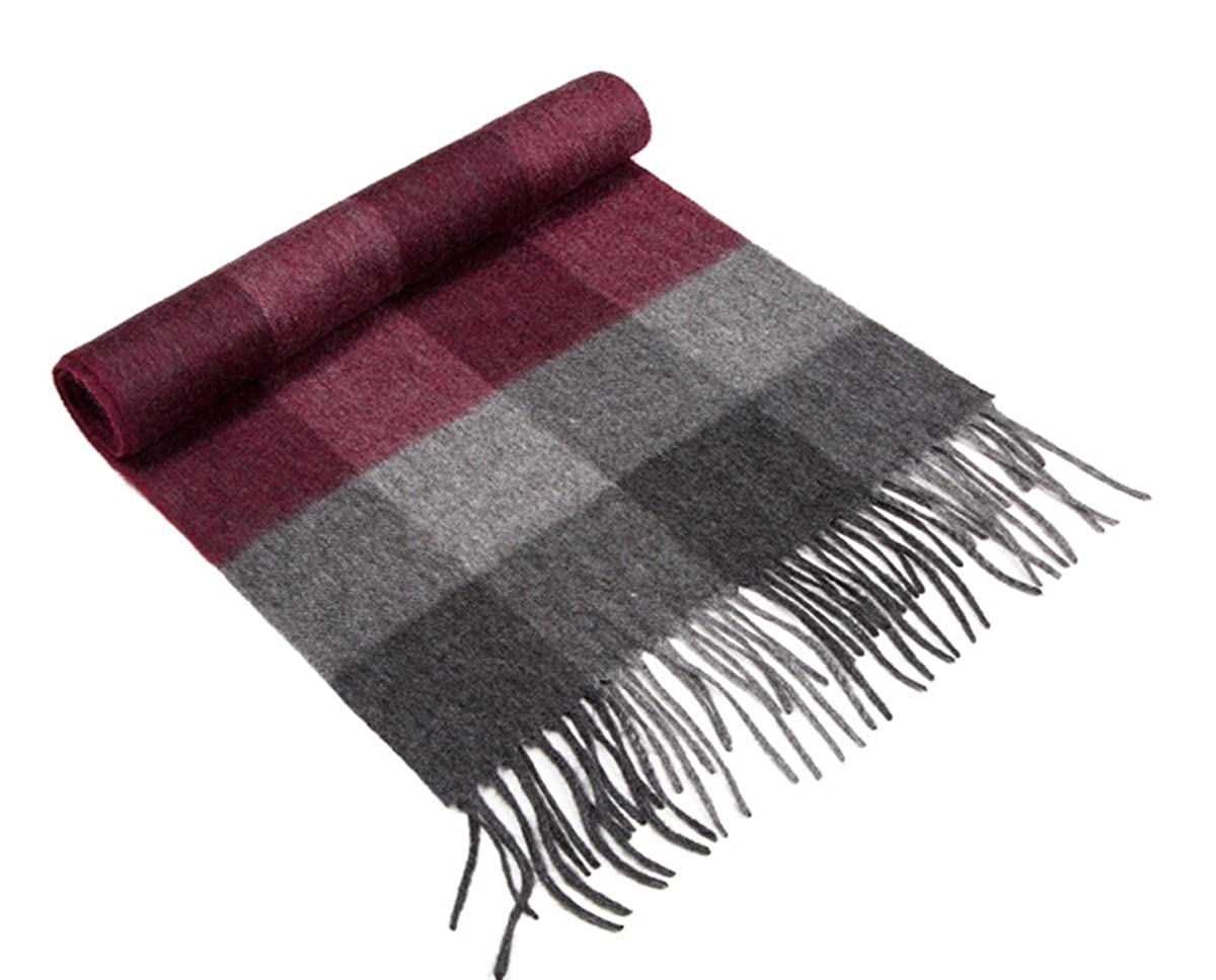 RJCC Men/'s Ruby Check Cashmere Scarf