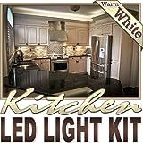 Biltek 6' ft Warm White Kitchen Pantry Wine Rack LED Strip Lighting Complete Package Kit Lamp Light DIY - Under Counters Microwave Glass Cabinets Floor Waterproof Flexible DIY 110V-220V
