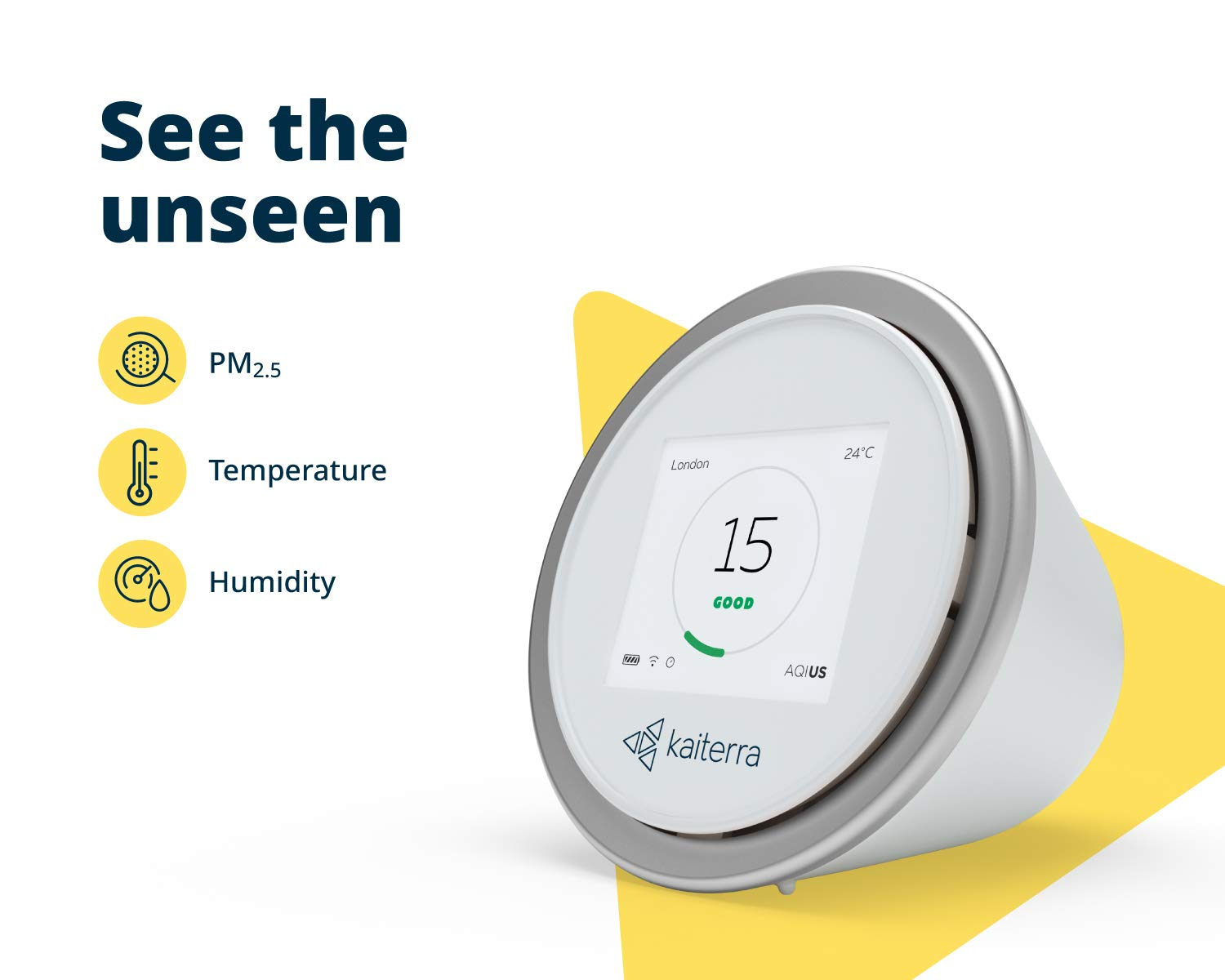 Kaiterra Laser Egg: Indoor Air Quality Monitor (Tracks PM2 5, Fine Dust,  Temperature, and Humidity)