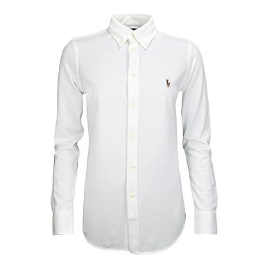 Ralph Lauren Chemise Polo Heidi Blanche pour Femme  Amazon.fr  Vêtements et  accessoires f0e493c1ef6d
