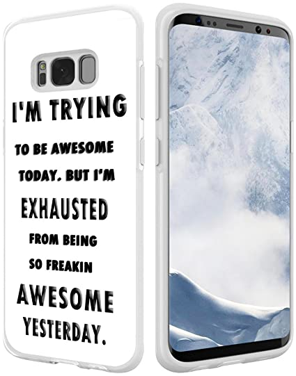 S8 Case Quotes,Hungo Compatible Silicone Cover Replacement For Samsung  Galaxy S8 Quotes I Am